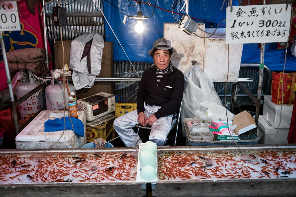 tokyo festival goldfish stall