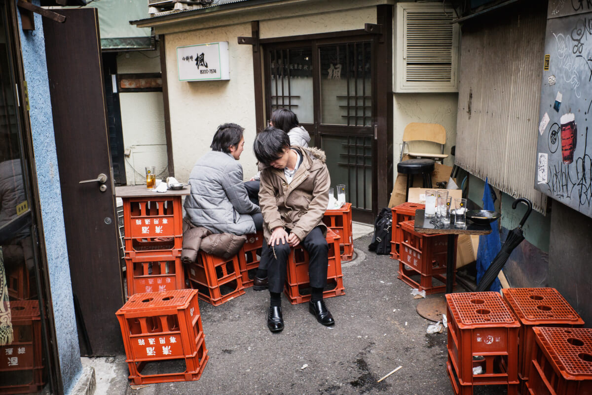 a Tokyo drunk on a Saturday morning after a Friday night out