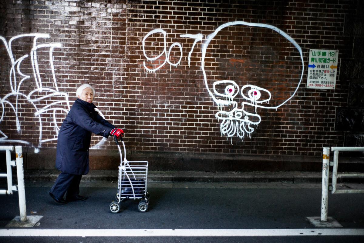 tokyo graffiti and stares