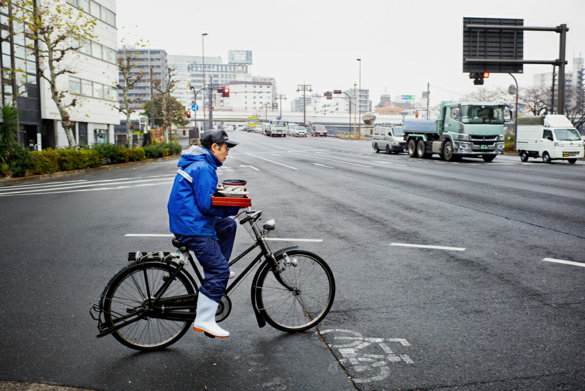 a Tokyo meal delivered traditionally by bicycle