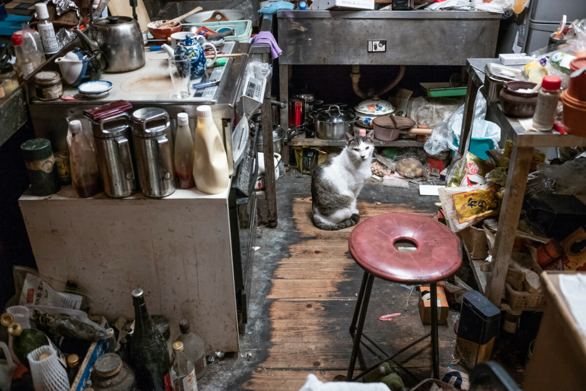 The most cluttered bar in Tokyo