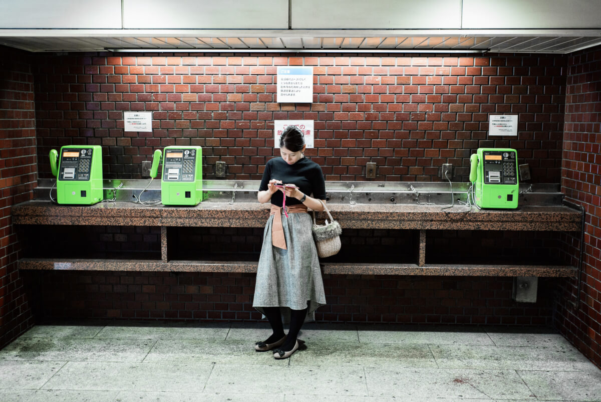 Tokyo pay phones and smart phones