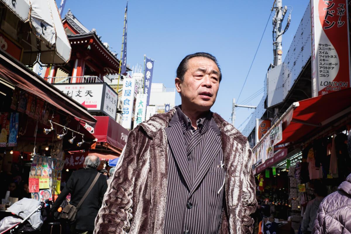 tokyo pinstripe loving Japanese man
