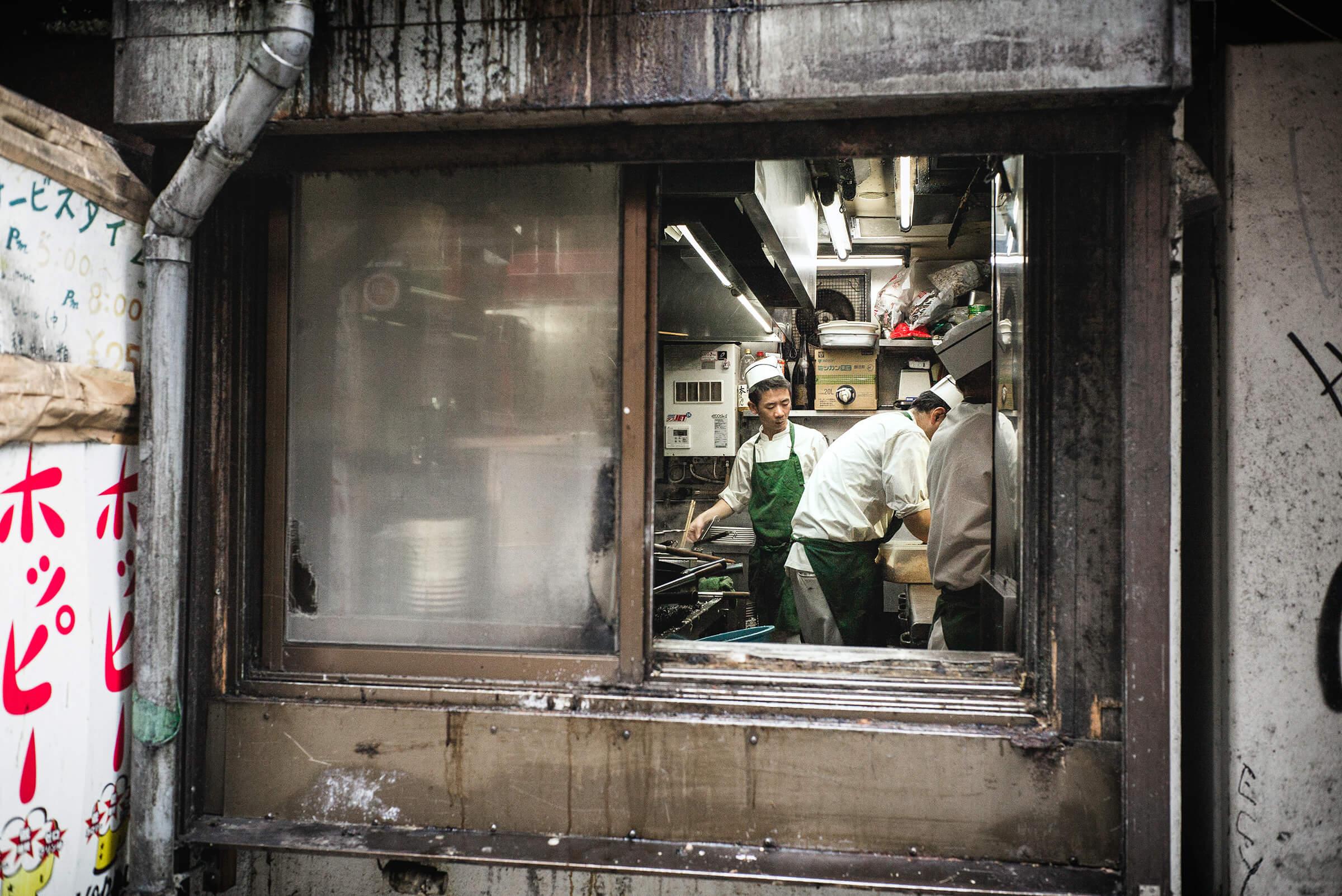 Restaurant Kitchen Window tokyo restaurant kitchen grime — tokyo times