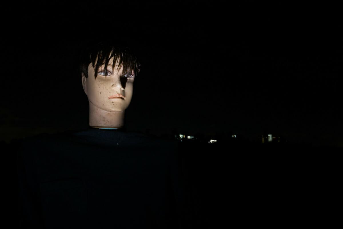 tokyo scarecrow at night