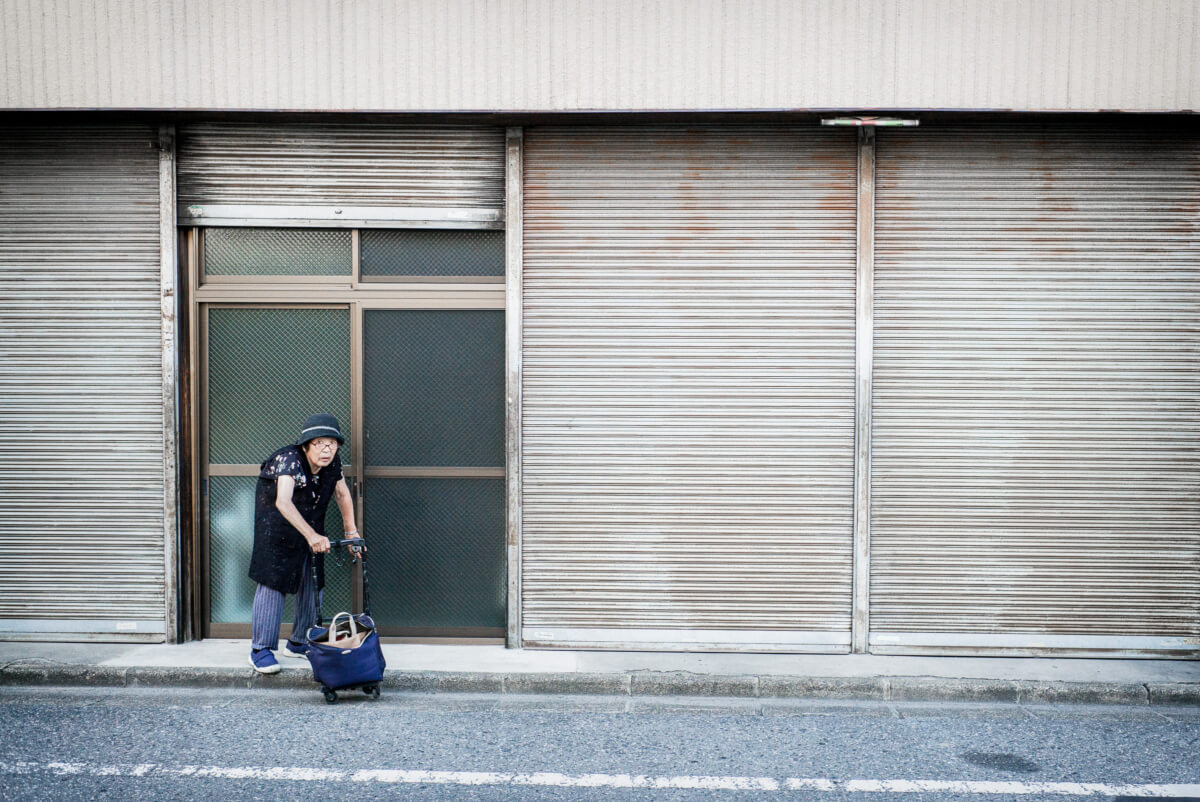 shutters and stares in old Tokyo