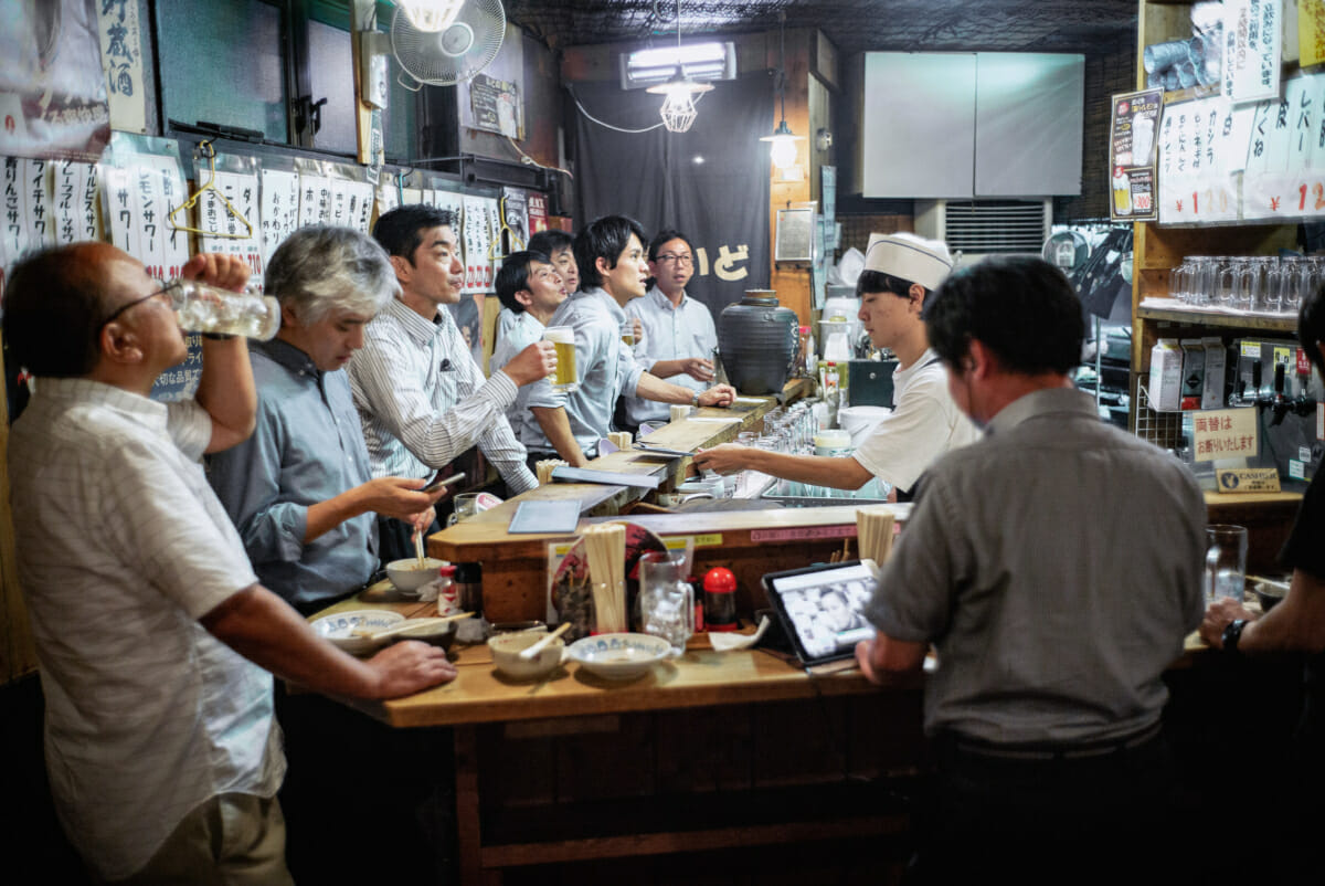 tokyo standing bar and its drinkers
