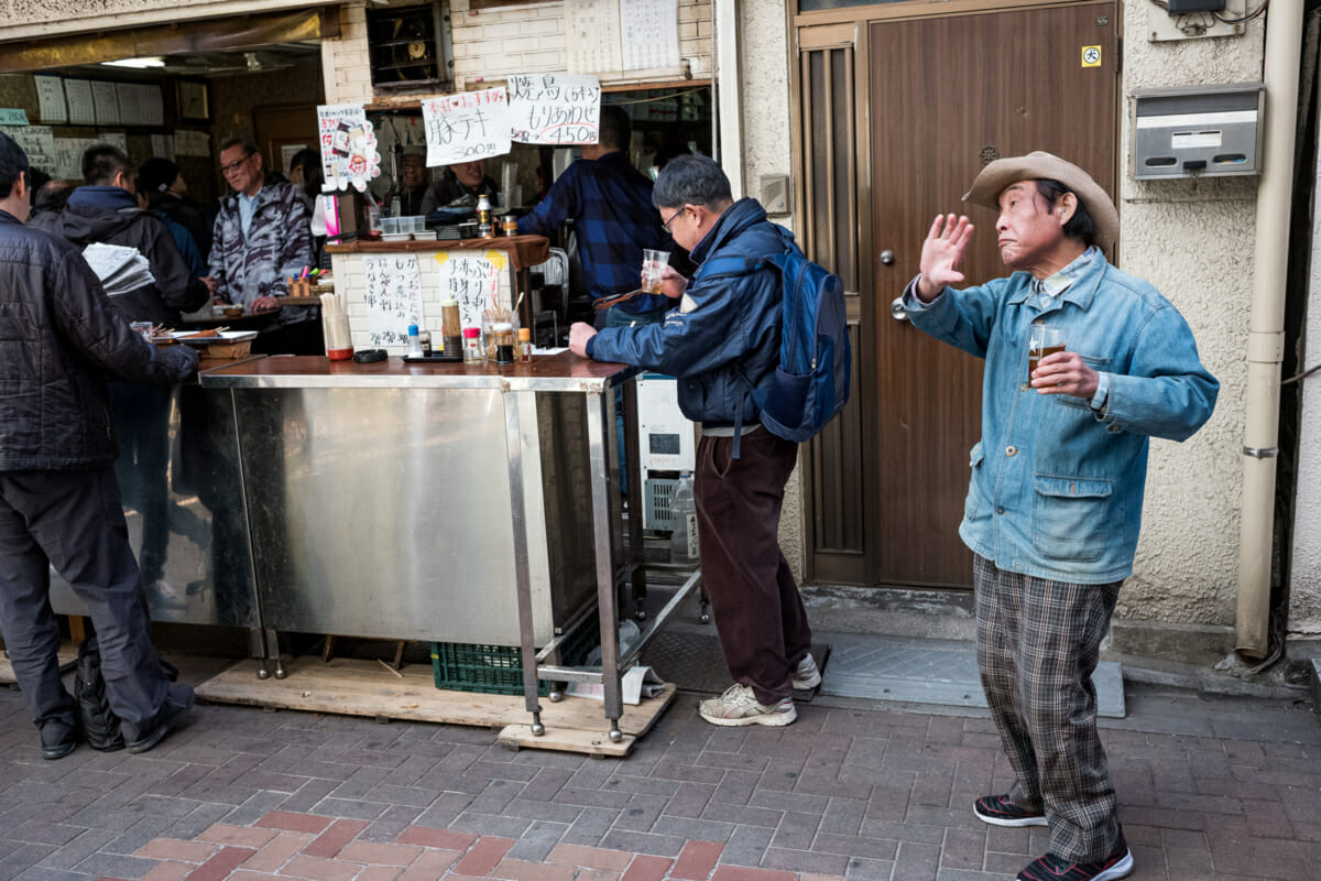 Tokyo standing bar drinker