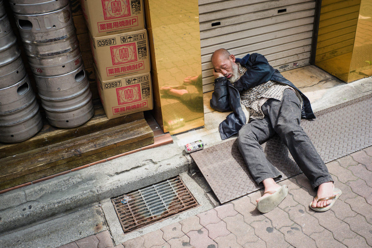 poverty on Tokyo's streets