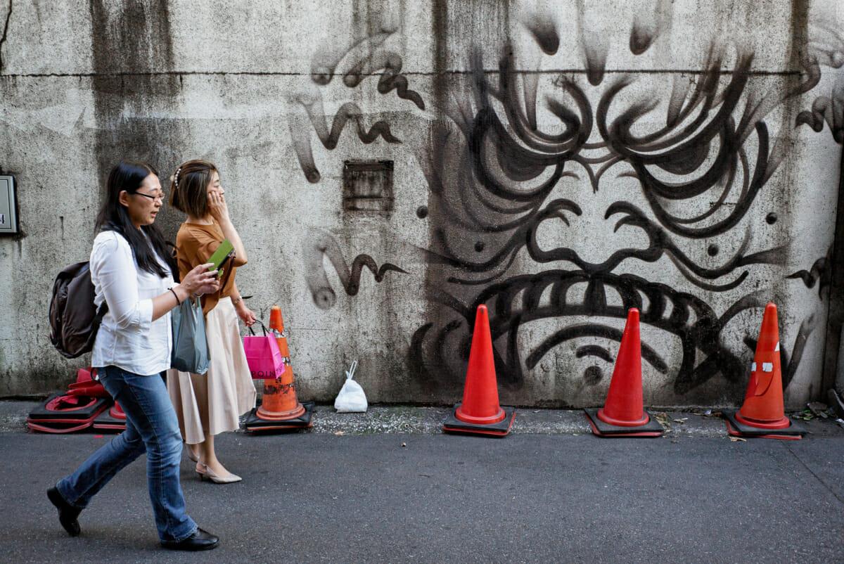 striking Tokyo urban art face