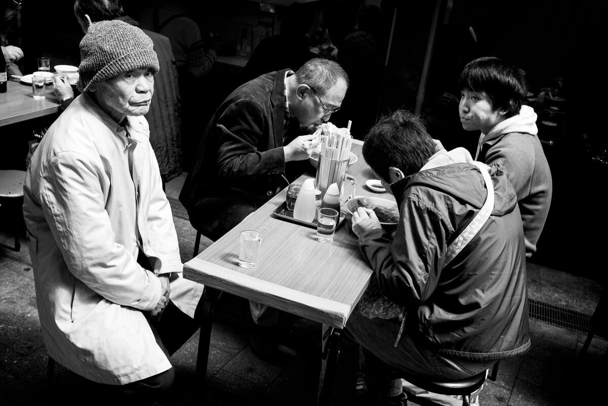 waiting for ramen in Tokyo