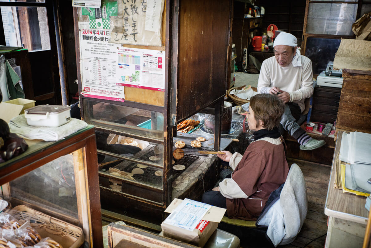 A traditional Tokyo rice cracker shop