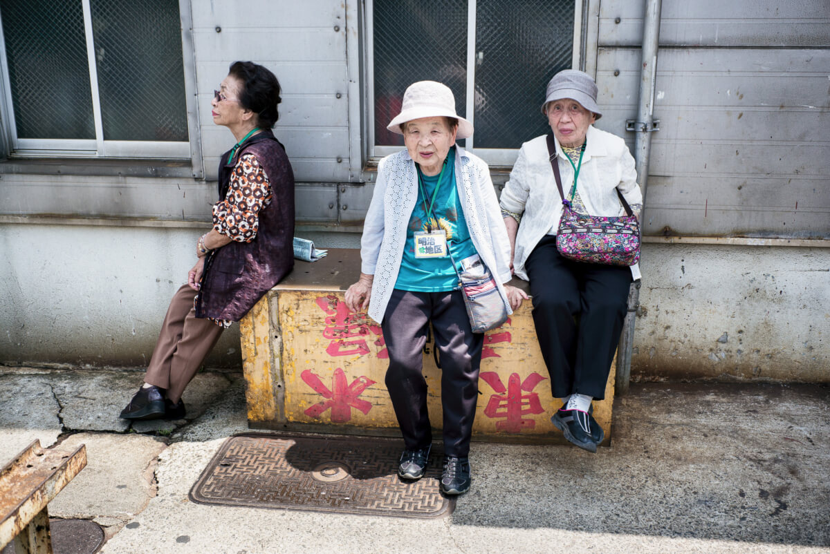 Tsukiji market old ladies