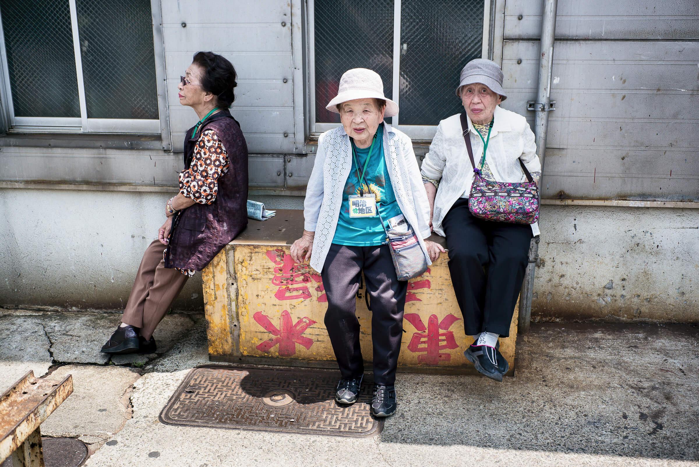 Tsukiji market old ladies