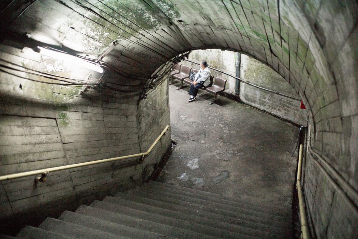 Tsutsuishi a Japanese dystopian train station
