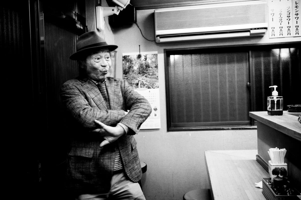 An incredibly expressive Japanese man