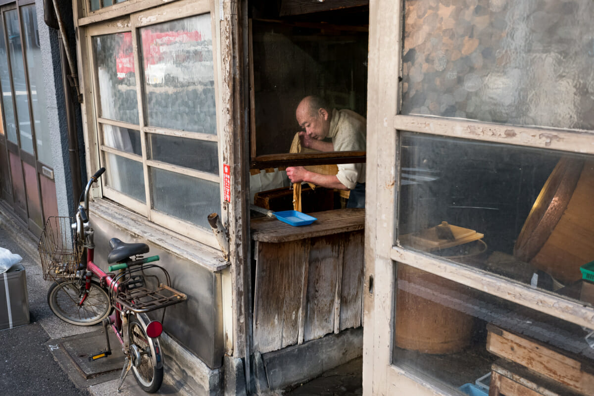 an old Tokyo tofu shop and its owner